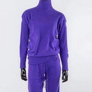 Chanel cc logo cashmere sweatsuit tracksuit